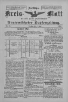 Amtliches Kreis-Blatt für den Kreis Neutomischel: zugleich Neutomischeler Hopfenzeitung 1898.06.07 Nr43