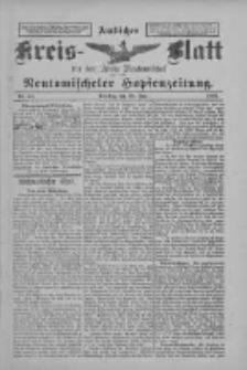 Amtliches Kreis-Blatt für den Kreis Neutomischel: zugleich Neutomischeler Hopfenzeitung 1898.06.28 Nr49