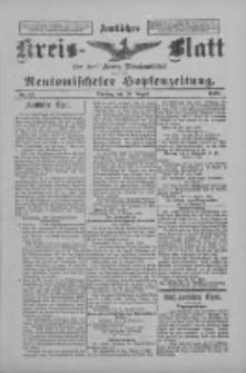 Amtliches Kreis-Blatt für den Kreis Neutomischel: zugleich Neutomischeler Hopfenzeitung 1898.08.16 Nr63
