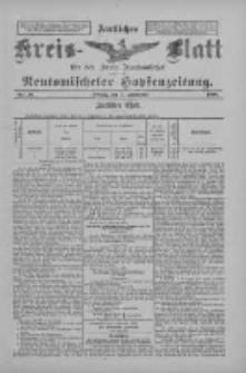 Amtliches Kreis-Blatt für den Kreis Neutomischel: zugleich Neutomischeler Hopfenzeitung 1898.09.09 Nr70