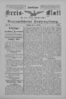 Amtliches Kreis-Blatt für den Kreis Neutomischel: zugleich Neutomischeler Hopfenzeitung 1898.10.11 Nr79