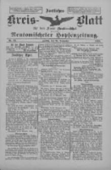 Amtliches Kreis-Blatt für den Kreis Neutomischel: zugleich Neutomischeler Hopfenzeitung 1898.11.25 Nr92