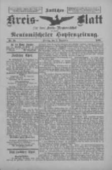 Amtliches Kreis-Blatt für den Kreis Neutomischel: zugleich Neutomischeler Hopfenzeitung 1898.12.02 Nr94