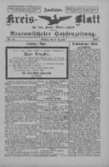 Amtliches Kreis-Blatt für den Kreis Neutomischel: zugleich Neutomischeler Hopfenzeitung 1898.12.06 Nr95