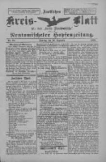 Amtliches Kreis-Blatt für den Kreis Neutomischel: zugleich Neutomischeler Hopfenzeitung 1898.12.20 Nr99