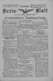 Amtliches Kreis-Blatt für den Kreis Neutomischel: zugleich Neutomischeler Hopfenzeitung 1898.12.30 Nr101