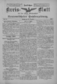 Amtliches Kreis-Blatt für den Kreis Neutomischel: zugleich Neutomischeler Hopfenzeitung 1899.12.15 Nr98
