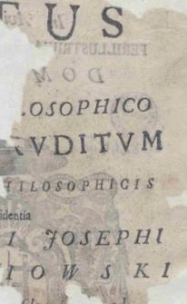 Motus in termino sive consumato [...] philosophico certamen eruditum ex conclusionibus philosophieis