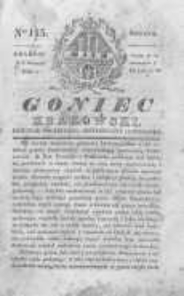 Goniec Krakowski: dziennik polityczny, historyczny i literacki. 1830.09.04 nr115