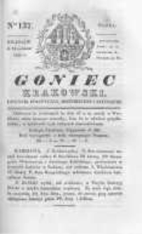 Goniec Krakowski: dziennik polityczny, historyczny i literacki. 1830.10.13 nr137