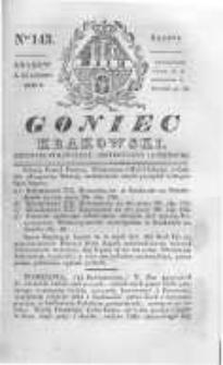 Goniec Krakowski: dziennik polityczny, historyczny i literacki. 1830.10.23 nr143