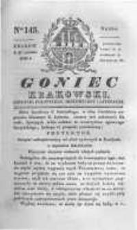Goniec Krakowski: dziennik polityczny, historyczny i literacki. 1830.10.27 nr145