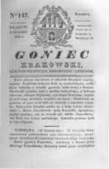 Goniec Krakowski: dziennik polityczny, historyczny i literacki. 1830.10.30 nr147