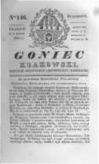 Goniec Krakowski: dziennik polityczny, historyczny i literacki. 1830.11.01 nr148