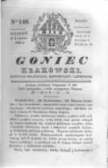 Goniec Krakowski: dziennik polityczny, historyczny i literacki. 1830.11.03 nr149