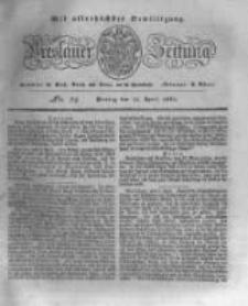 Breslauer Zeitung. 1831.04.11 Nr84