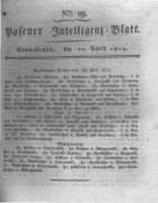 Posener Intelligenz Blatt. 1819.04.10 Nr29