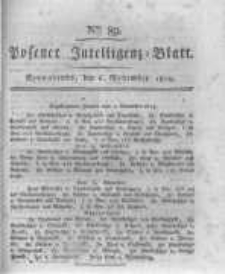 Posener Intelligenz Blatt. 1819.11.06 Nr89