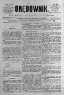 Orędownik: pismo poświęcone sprawom politycznym i spółecznym. 1886.04.22 R.16 nr92
