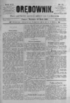 Orędownik: pismo poświęcone sprawom politycznym i spółecznym. 1886.05.16 R.16 nr111