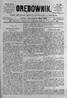 Orędownik: pismo poświęcone sprawom politycznym i spółecznym. 1886.05.20 R.16 nr114
