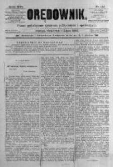 Orędownik: pismo poświęcone sprawom politycznym i spółecznym. 1886.07.01 R.16 nr146