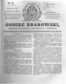 Goniec Krakowski: dziennik polityczny, historyczny i literacki. 1831.01.08 nr5