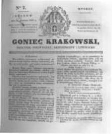 Goniec Krakowski: dziennik polityczny, historyczny i literacki. 1831.01.11 nr7
