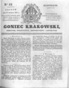 Goniec Krakowski: dziennik polityczny, historyczny i literacki. 1831.01.17 nr12