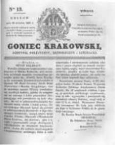 Goniec Krakowski: dziennik polityczny, historyczny i literacki. 1831.01.18 nr13