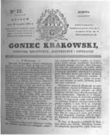 Goniec Krakowski: dziennik polityczny, historyczny i literacki. 1831.01.22 nr17