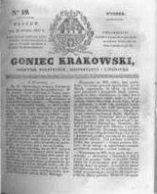 Goniec Krakowski: dziennik polityczny, historyczny i literacki. 1831.01.25 nr19