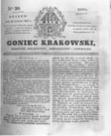 Goniec Krakowski: dziennik polityczny, historyczny i literacki. 1831.01.26 nr20