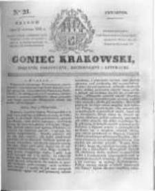 Goniec Krakowski: dziennik polityczny, historyczny i literacki. 1831.01.27 nr21