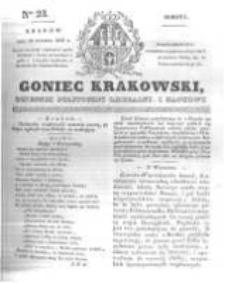 Goniec Krakowski: dziennik polityczny, liberalny i naukowy. 1831.01.29 nr23
