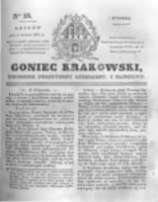 Goniec Krakowski: dziennik polityczny, liberalny i naukowy. 1831.02.01 nr25