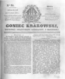 Goniec Krakowski: dziennik polityczny, liberalny i naukowy. 1831.02.09 nr31