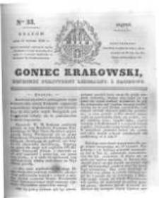 Goniec Krakowski: dziennik polityczny, liberalny i naukowy. 1831.02.11 nr33