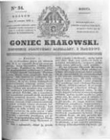 Goniec Krakowski: dziennik polityczny, liberalny i naukowy. 1831.02.12 nr34