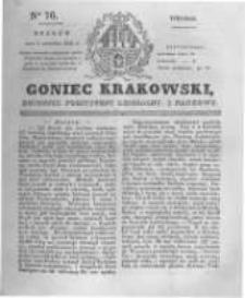 Goniec Krakowski: dziennik polityczny, liberalny i naukowy. 1831.04.05 nr76