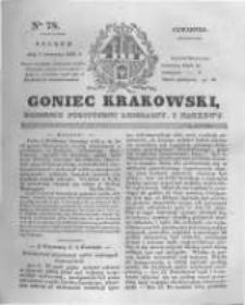 Goniec Krakowski: dziennik polityczny, liberalny i naukowy. 1831.04.07 nr78