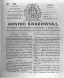 Goniec Krakowski: dziennik polityczny, liberalny i naukowy. 1831.04.15 nr85