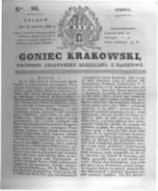 Goniec Krakowski: dziennik polityczny, liberalny i naukowy. 1831.04.16 nr86
