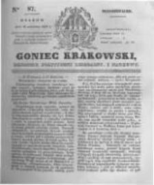 Goniec Krakowski: dziennik polityczny, liberalny i naukowy. 1831.04.18 nr87