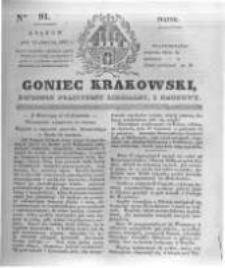Goniec Krakowski: dziennik polityczny, liberalny i naukowy. 1831.04.22 nr91