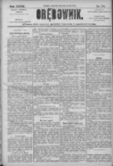 Orędownik: pismo dla spraw politycznych i społecznych 1906.03.08 R.36 Nr54