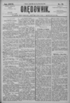 Orędownik: pismo dla spraw politycznych i społecznych 1906.04.05 R.36 Nr78