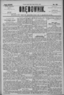 Orędownik: pismo dla spraw politycznych i społecznych 1906.04.13 R.36 Nr85