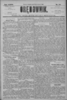 Orędownik: pismo dla spraw politycznych i społecznych 1906.04.15 R.36 Nr87