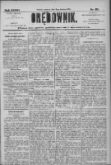 Orędownik: pismo dla spraw politycznych i społecznych 1906.04.19 R.36 Nr89